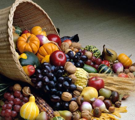 frutta verdura cornucopia abbondanza