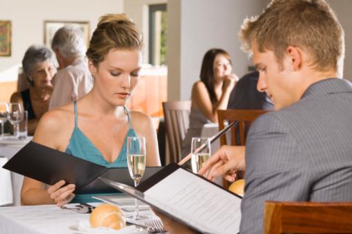 coppia menu ristorante