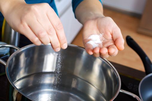 sale acqua per la pasta