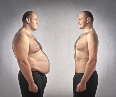 uomini magro grasso dieta