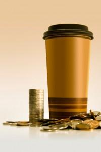 mega bicchiere caffè soldi