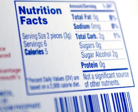 etichetta nutrizionale