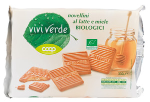 Novellini al latte e miele biologici coop vivi verde