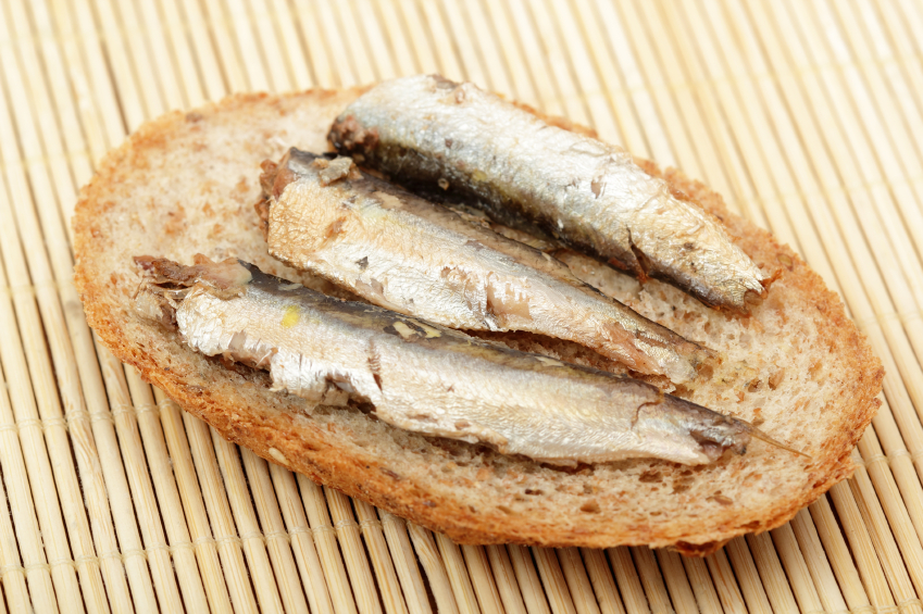 Sandwich with sprats