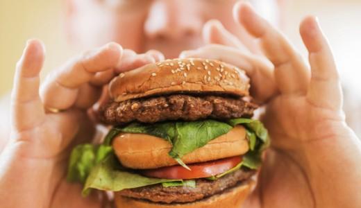 Hamburger junk food