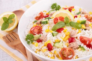 bowl of rice salad