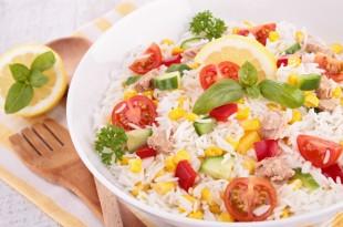 bowl of rice salad