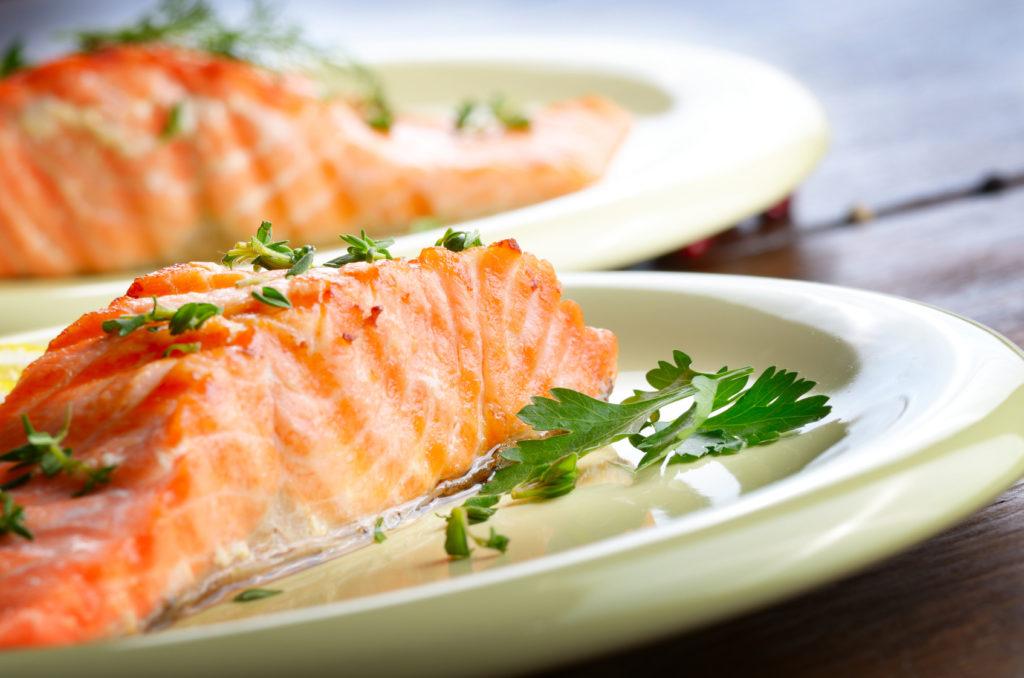 salmone tranci piatto