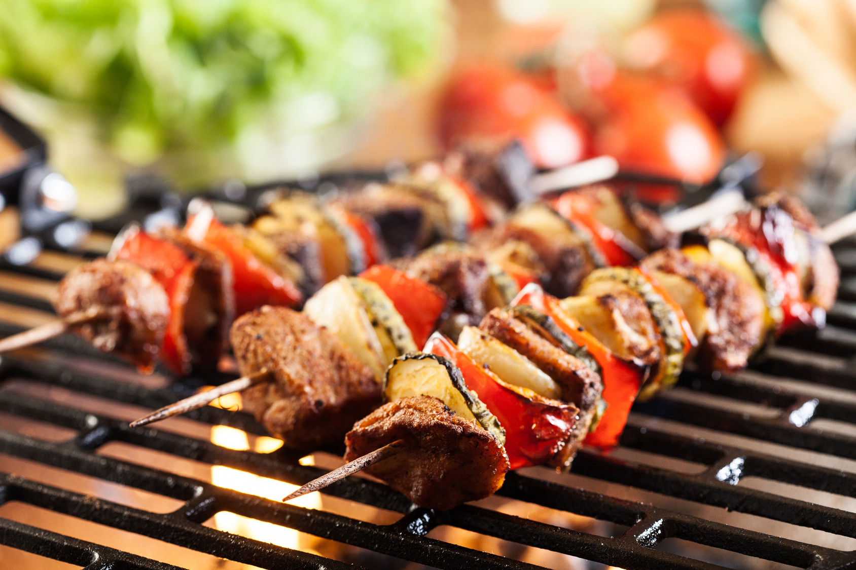 spiedini carne grigliata barbecue
