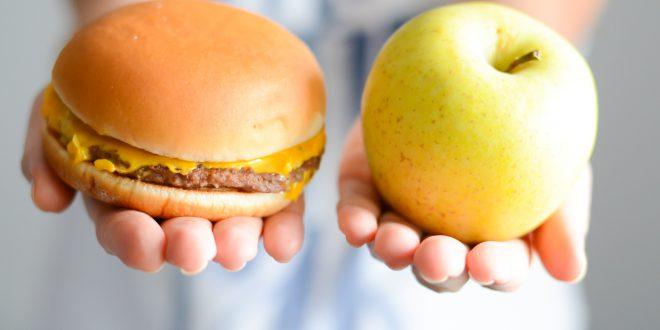cibo spazzatura cibo sano