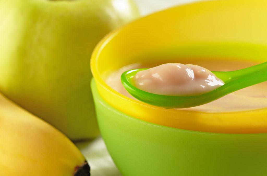 baby food omogeneizzato frutta ciotola plastica