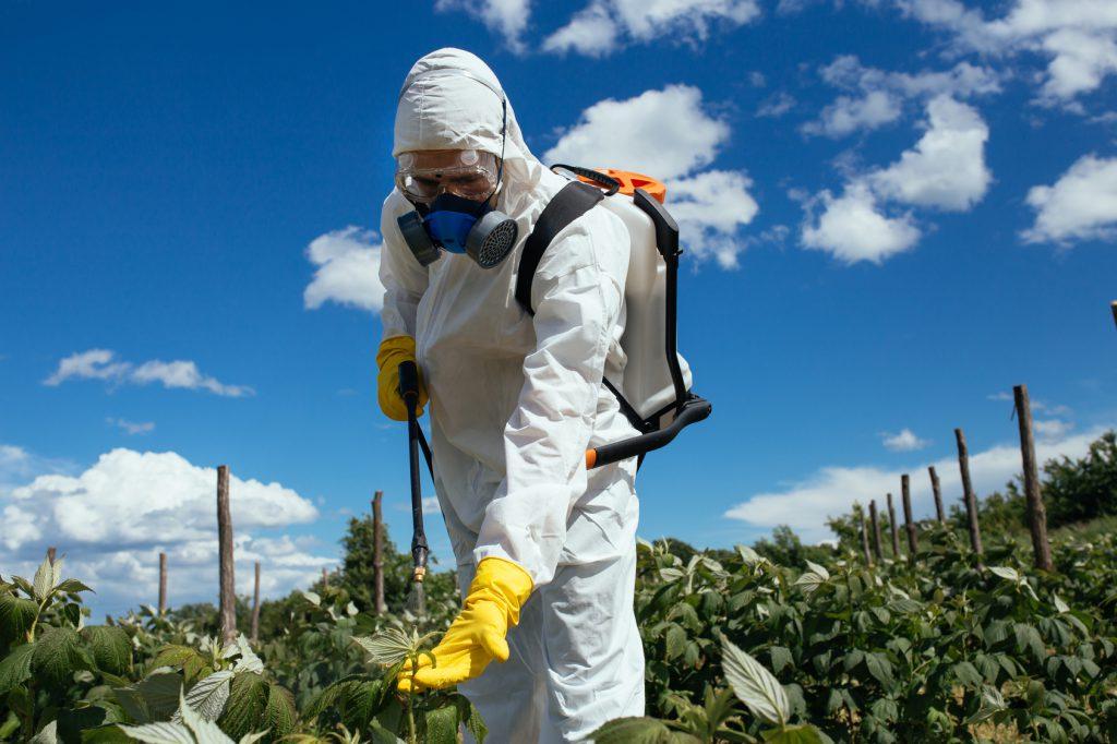 pesticidi erbicidi campi agricoltura uomo