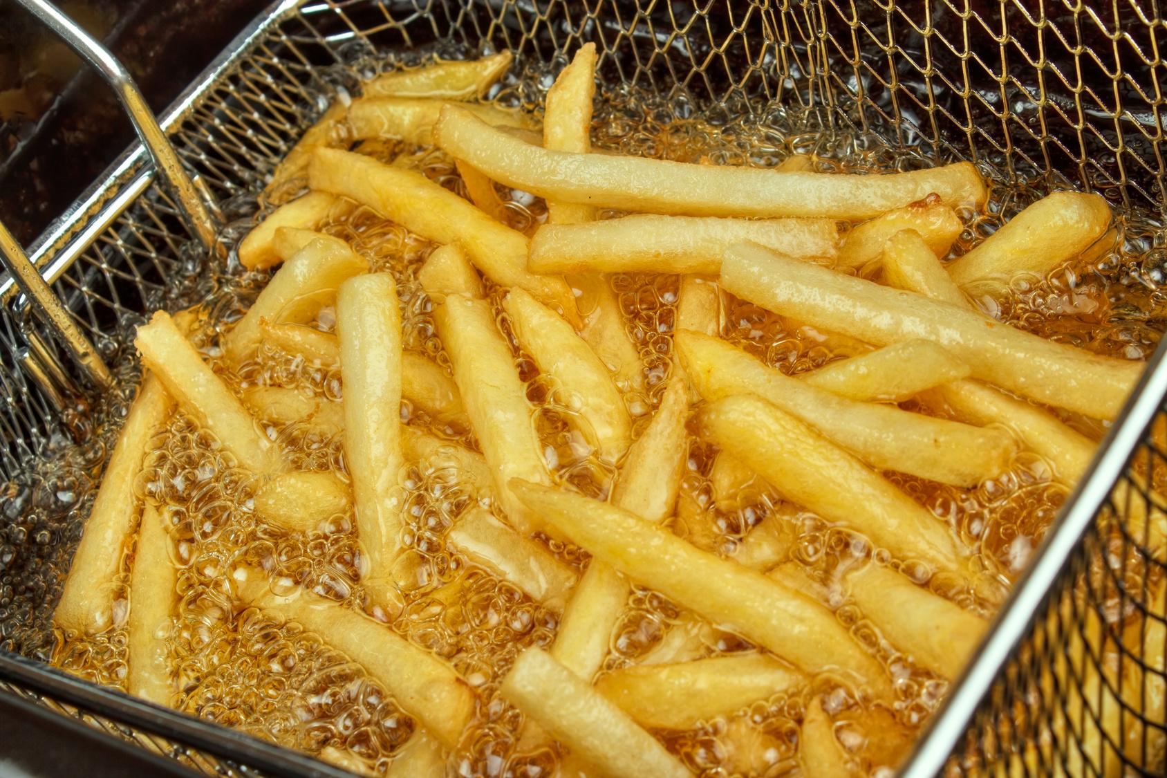 patatine fritte olio di frittura
