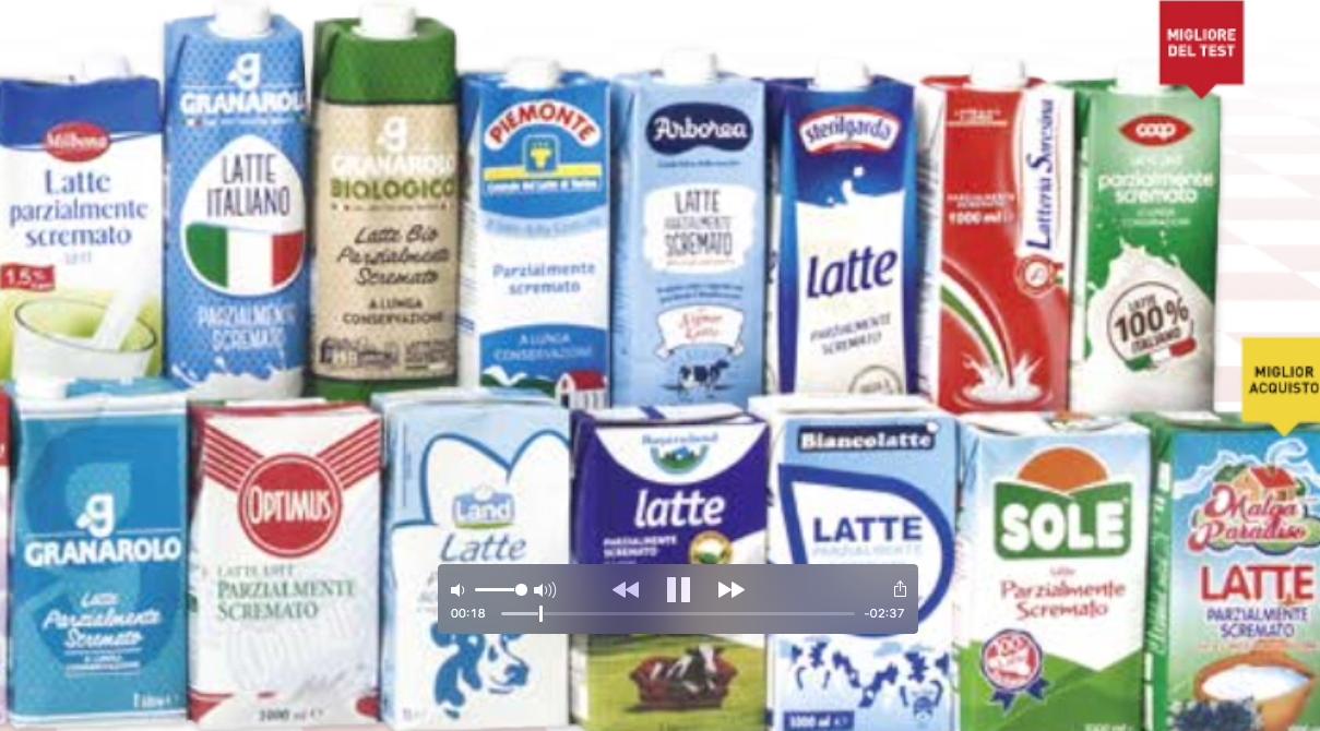 Latte uht parzialmente scremato il video sul test di for Denuncia redditi 2017 scadenza