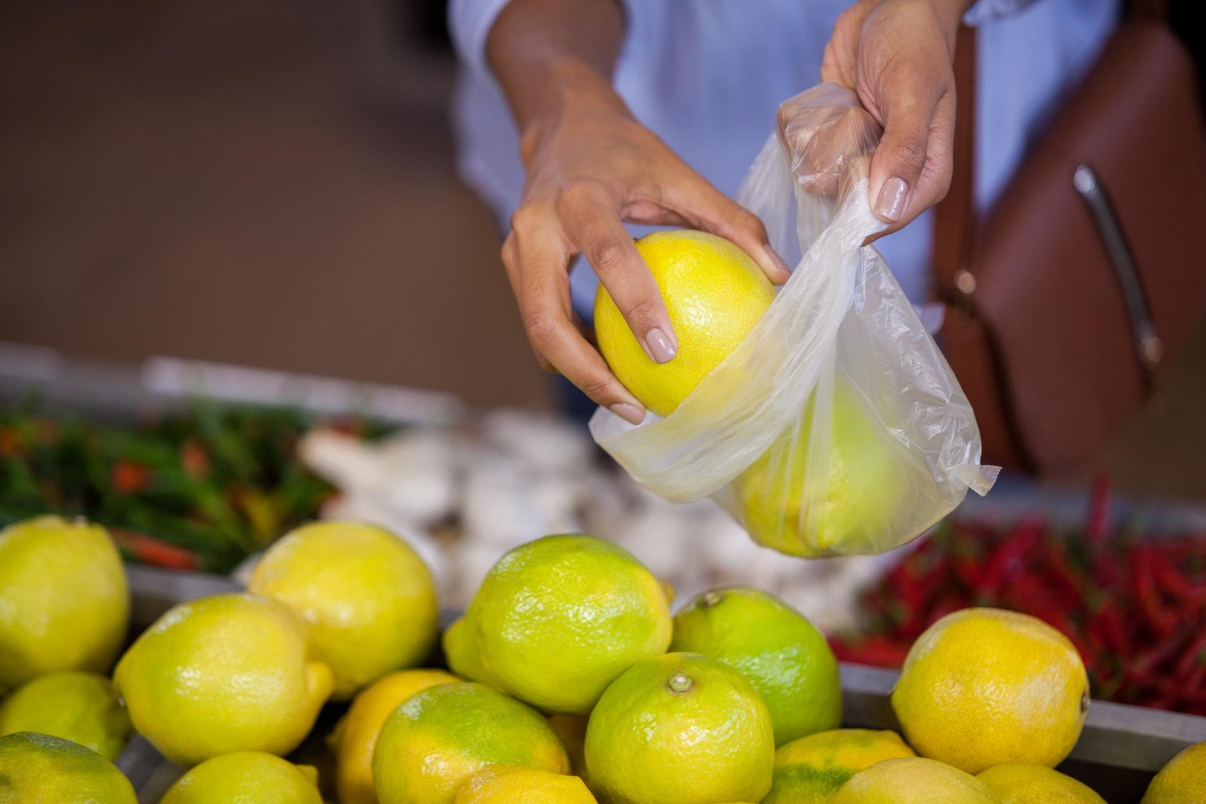 sacchetti frutta ortofrutta limoni