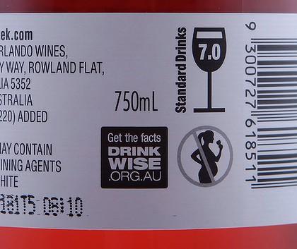 rótulo de proibição de álcool na gravidez