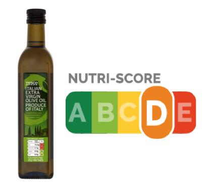 nutri-score olio extravergine