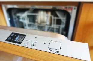 Control panel of a built-in dishwasher machine