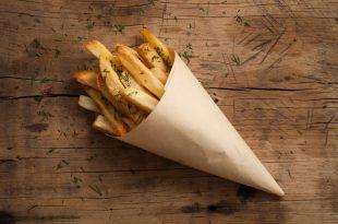 patate fritte cono carta paglia