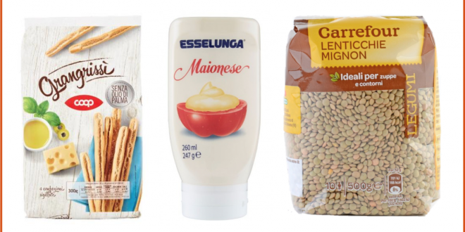 grissini coop maionese esselunga lenticchie carrefour private label prodotti