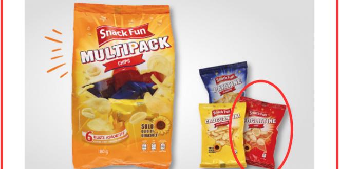 aldi multipack chips snack fun richiamo copertina