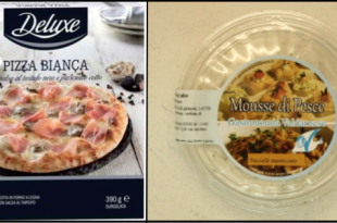 richiamo lidl pizza bianca deluxe unicoop tirreno mousse baccala