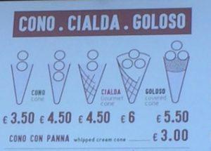 prezzo gelato Milano