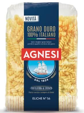 agnesi 2018 eliche pasta 100 italiana grano