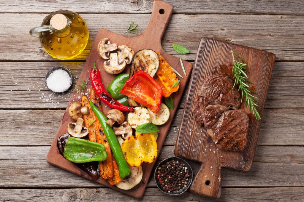 carne vs verdura grigliata