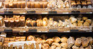 scaffali pane supermercato