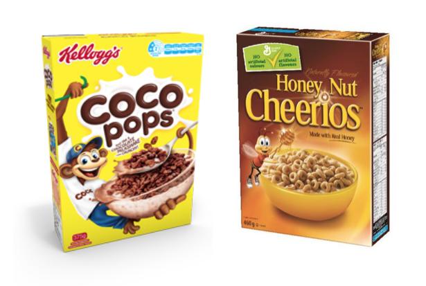 kellogg's coco pops nestle cheerios