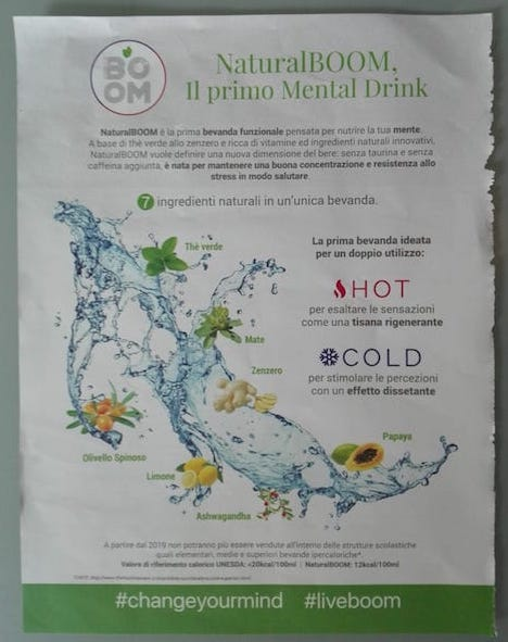 naturalboom mental drink rivista 2018
