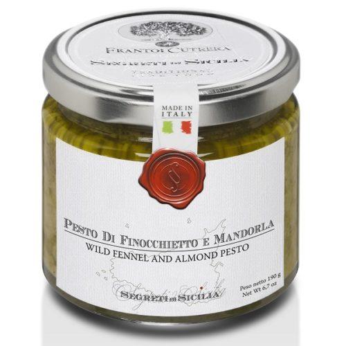 Pesto-finocchietto-mandorle-sapori di sicilia