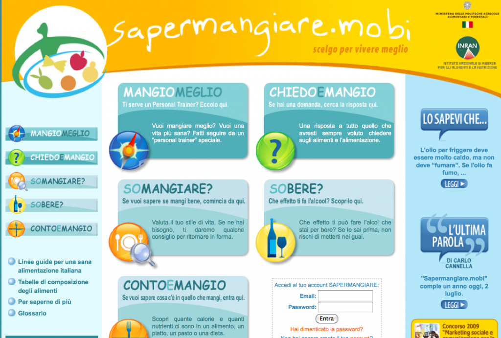 sapermangiare.mobi
