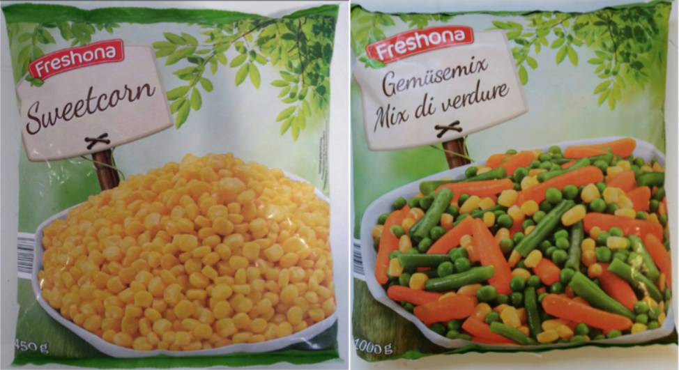 mais mix verdure surgelati freshona listeria