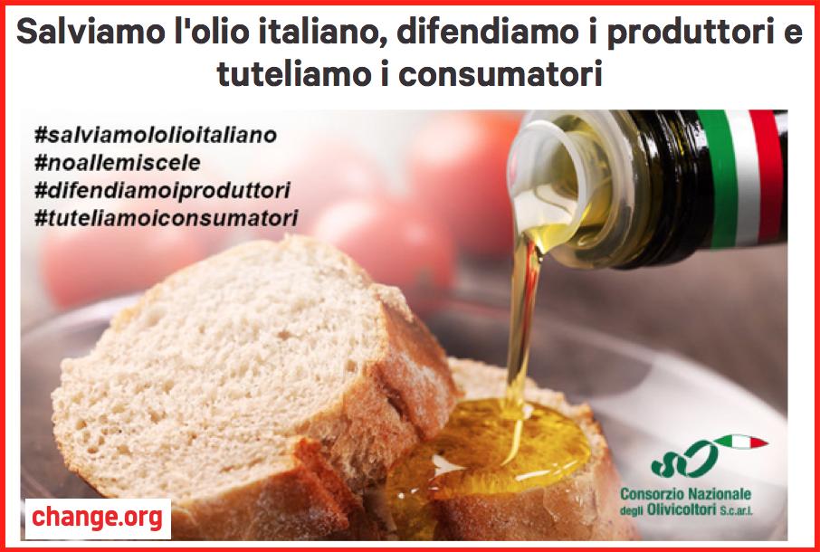 petizione olio italico cno changeorg