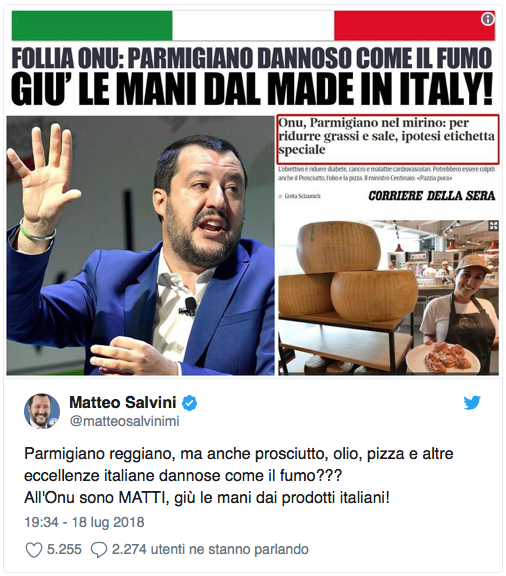 salvini oms parmigiano made in italy