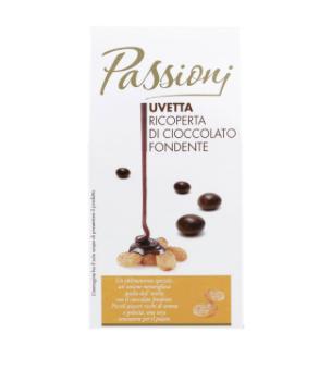uvetta ricoperta di cioccolato fondente auchan passioni