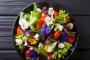 fiori commestibili edibili verdura insalata veg