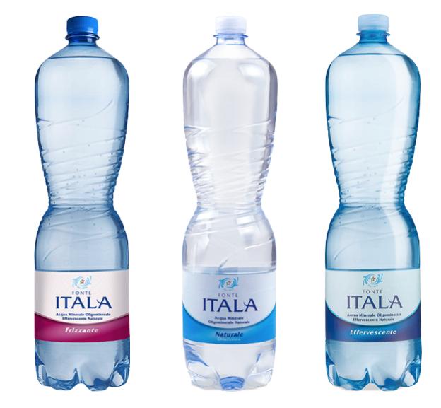 fonte italia acqua minerale naturale effervescente chiarissima frizzante