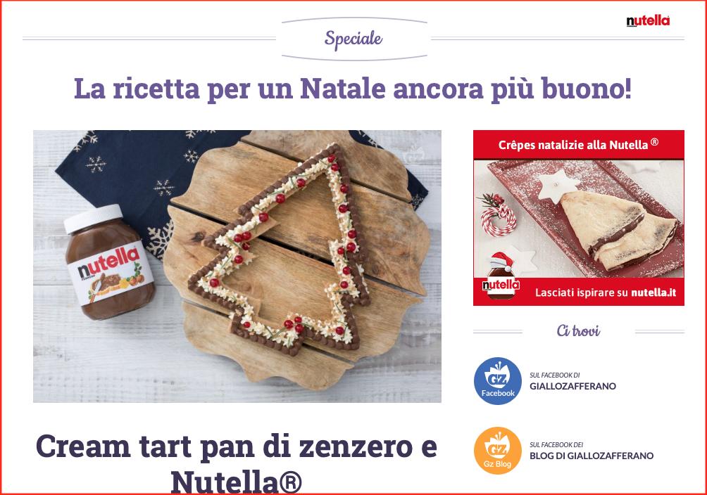 giallozafferano nutella dolci pagina sponsorizzata