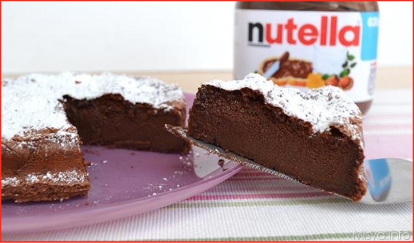 ricetta torta nutella misya