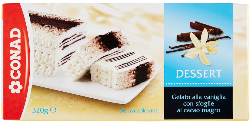 Conad dessert vaniglia surgelato