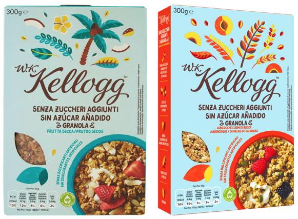 kellogg's cereali senza zuccheri aggiunti