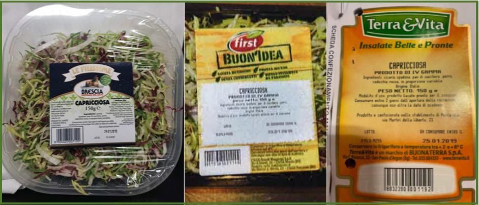 Allarme listeria nell'insalata: il Ministero della Salute richiama alcuni lotti