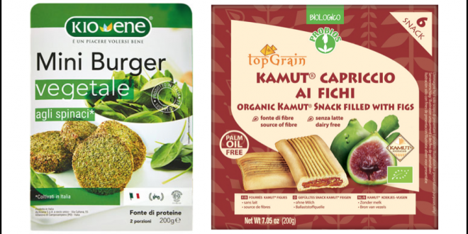 miniburger spinaci kioene probios top grain capriccio kamut fichi