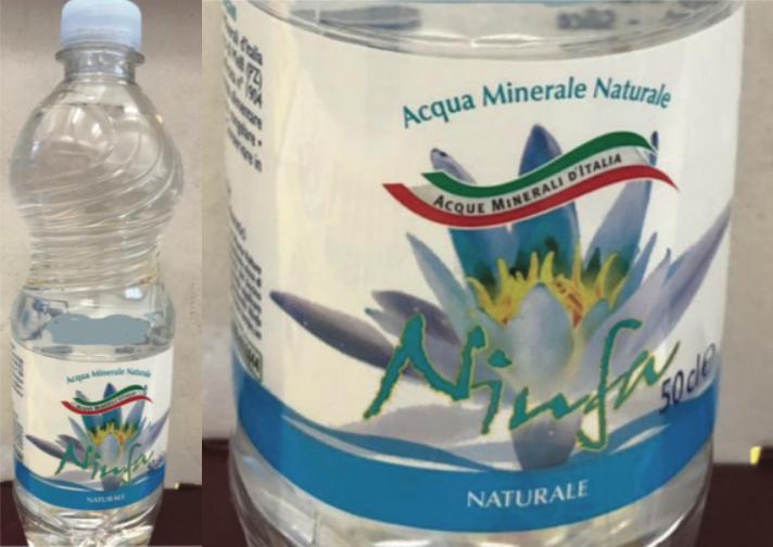 acqua minerale naturale ninfa richiamo