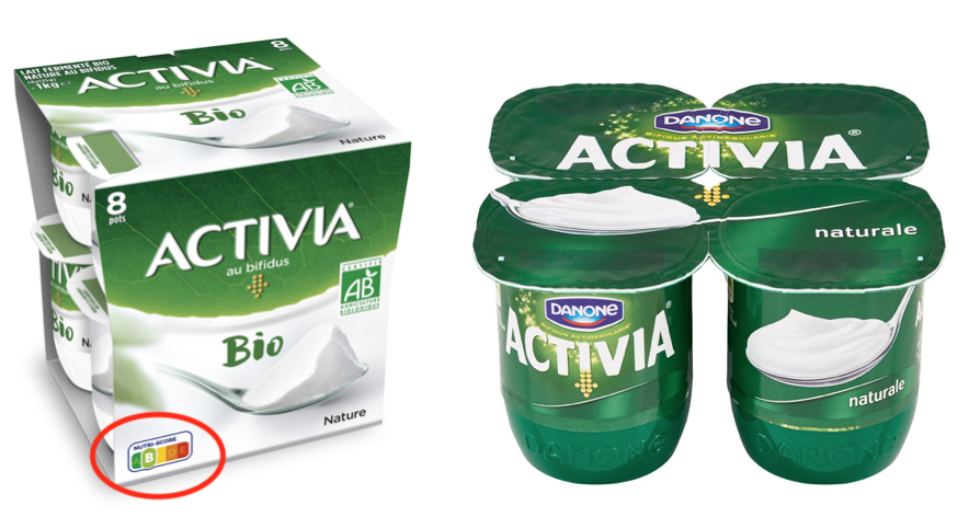 activia bio nutri-score francia italia yogurt bianco
