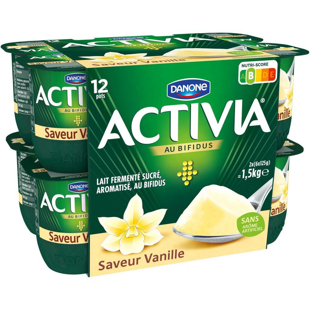 activia vaniglia nutri-score francia