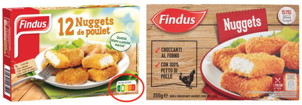findus nuggets pollo nutri-score italia francia